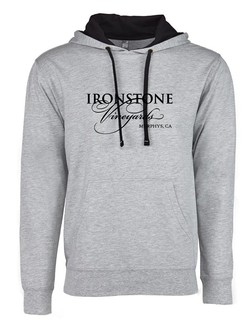 Hooded Sweatshirt - Classic Logo - Black and Grey